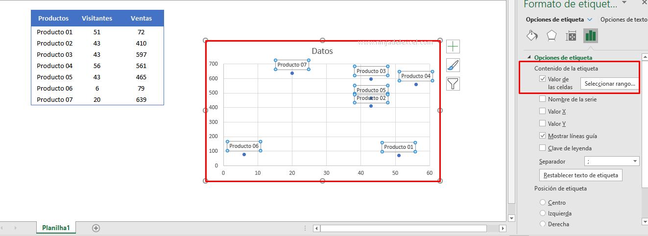 Desenvolver un Diagrama de Dispersión en Excel