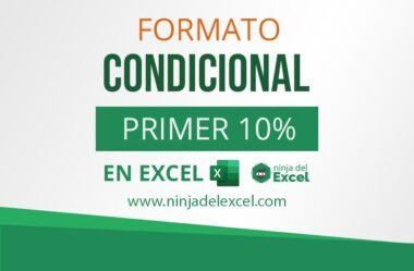 Formato Condicional Primer 10% – Aprenda Paso a Paso