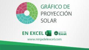 Grafico de Proyección Solar en Excel