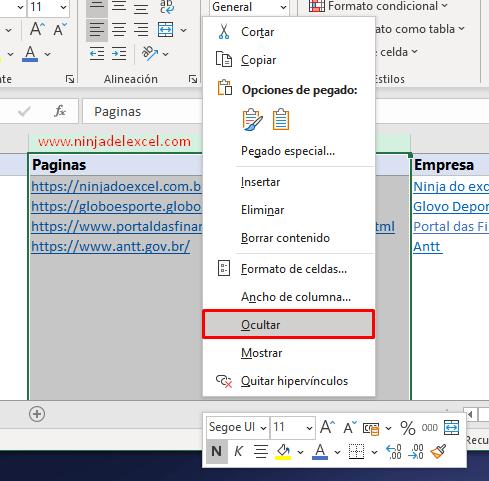 Hipervínculo en Excel