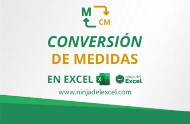 Conversión de Medidas en Excel – Sepa Cómo Hacer