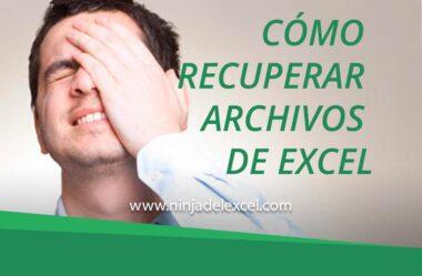 Cómo Recuperar Archivos de Excel