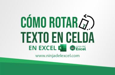 Cómo Rotar el Texto en Excel 2  – Paso a Paso
