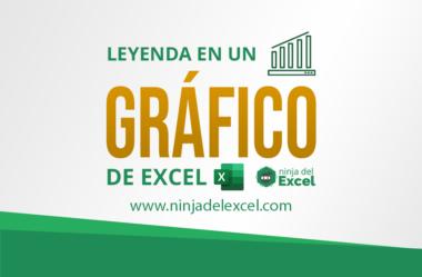 Cómo Trabajar con la Leyenda en un Gráfico de Excel