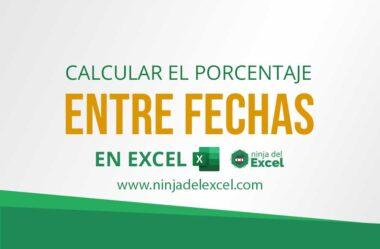 Cómo Calcular el Porcentaje entre Fechas en Excel