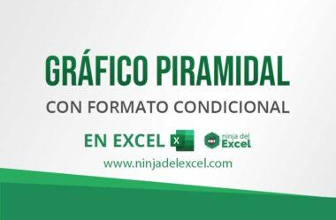 Gráfico Piramidal con Formato Condicional en Excel