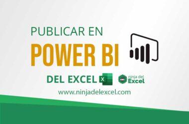 Publicar en Power BI del Excel – Exportar datos
