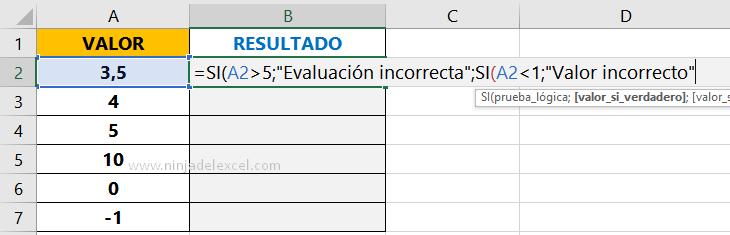 Aprende Función SI con Y en Excel