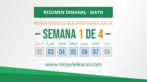 Resumen Semanal de Excel 1 de 4 de Mayo