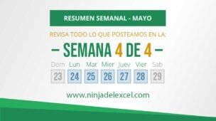 Resumen Semanal de Mayo de Excel 4 de 4