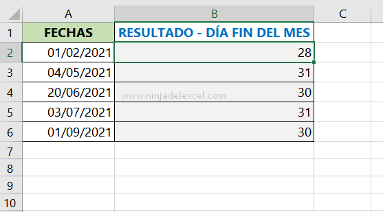 Aprenda Como Saber el Último día del Mes en Excel