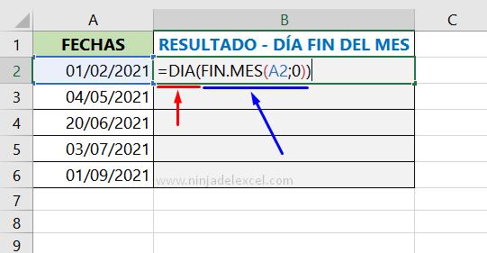 Buscar Como Saber el Último día del Mes en Excel