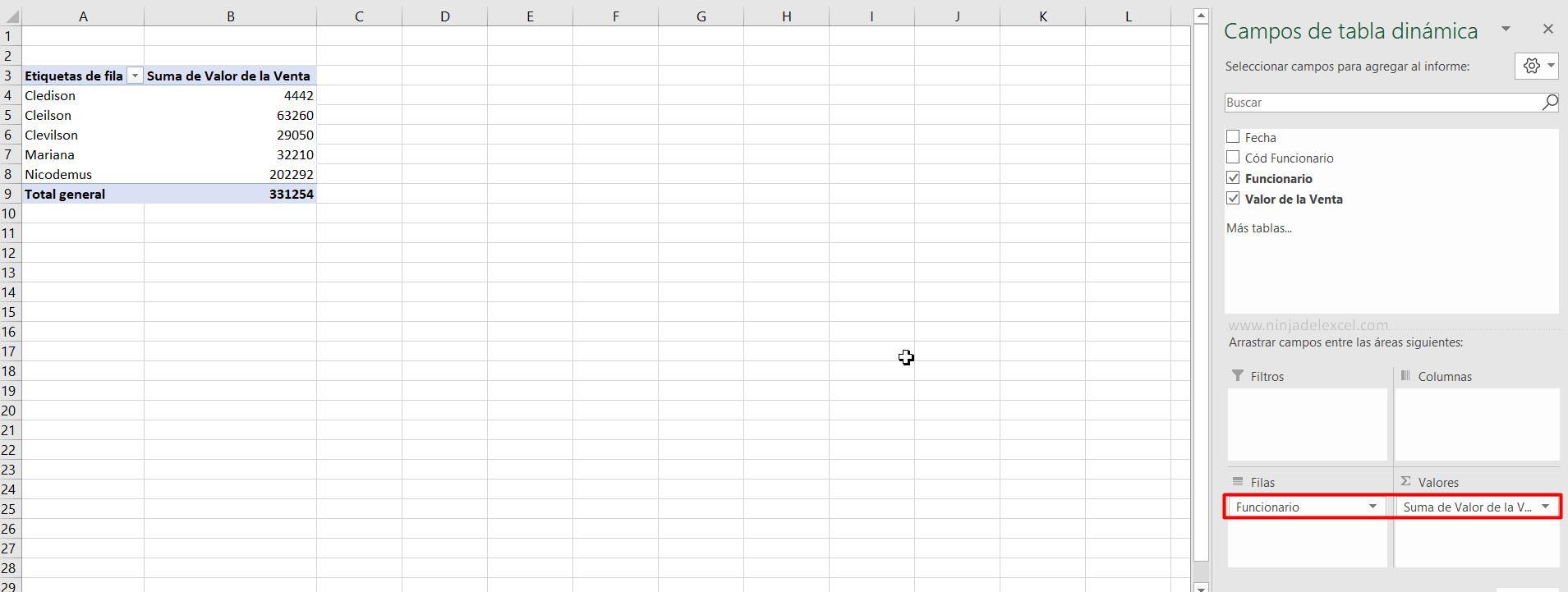 Como crear Tabla Dinámica en Excel tutorial