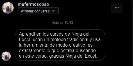 Ninja dele excel - recomendaciones