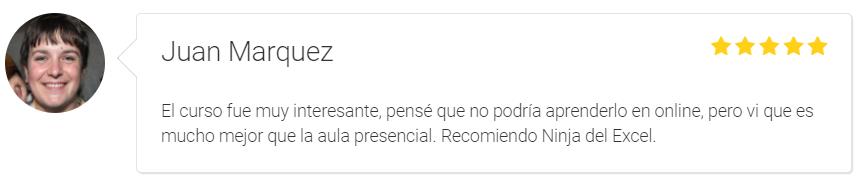 recomendaciones Ninja del Excel Juan