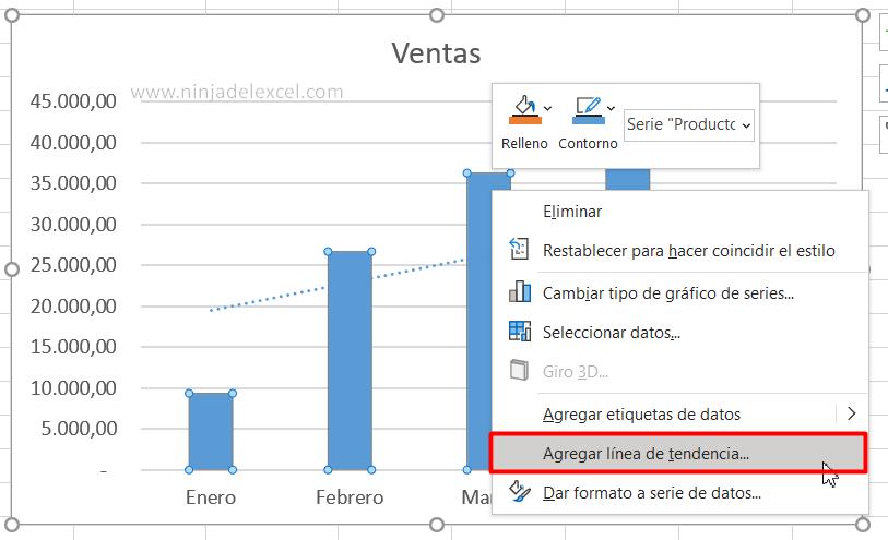 Buscar Línea de Tendencia de Excel