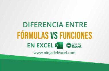 Diferencia Entre Fórmulas vs Funciones en Excel