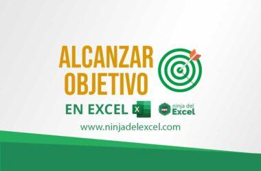 Alcanzar Objetivo en Excel. paso a paso