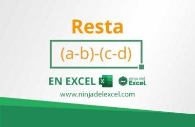Como Hacer Resta en Excel. Paso a paso