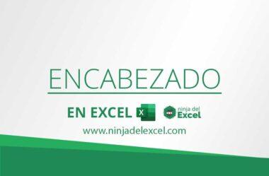 Encabezado en Excel – Documentos personalizados