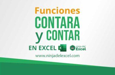 Funciones CONTARA y CONTAR en Excel
