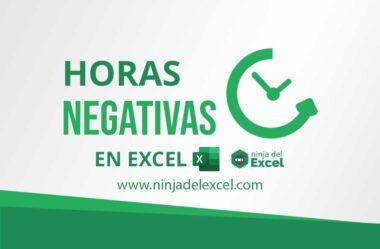 Trabajando con Horas Negativas en Excel