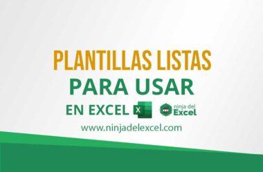 Plantillas Listas para Usar en Excel