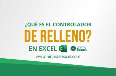 ¿Qué es el controlador de Relleno de Excel?