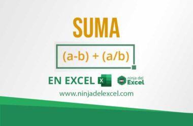 Función SUMA en Excel – (Como Sumar Paso a Paso)