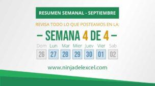 Resumen Semanal de Excel de septiembre 4